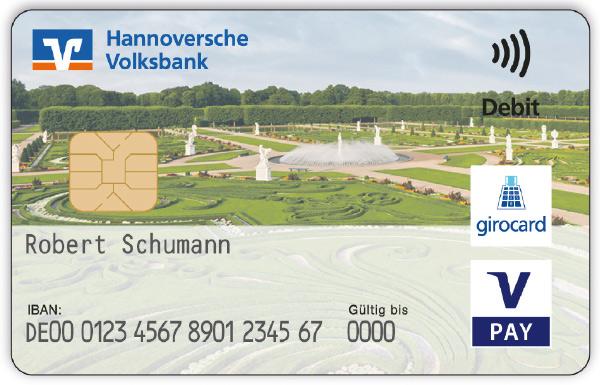 Herrenhäuser Gärten Girocard Hannoversche Volksbank Eg